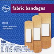 Kroger Bandages, Fabric, Assorted Sizes