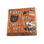 Creative Converting Bats Cats & Hats Beverage Napkins