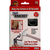 Tap Bracket Curtain Brackets, Silver, Instant