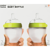 comotomo Baby Bottle, 5 Ounce, 2 Pack