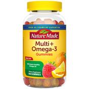 Nature Made Multivitamin + Omega 3 Gummies - Strawberry, Lemon & Orange