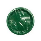 """First Street 7"""" Emerald Green Touch of Color Plastic Plate"""