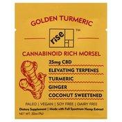 Rise Bar Cannabinoid, Rich, 25 mg, Morsel, Golden Turmeric