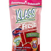 Klass Drink Mix, Sweetened, Strawberry Flavored