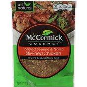 McCormick Gourmet™ Toasted Sesame & Garlic Stir-Fried Chicken Recipe & Seasoning Mix