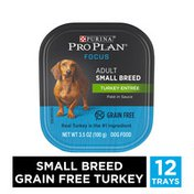 Purina Pro Plan Grain Free, High Protein Small Breed Pate Wet Dog Food, FOCUS Turkey Entree