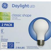GE Light Bulbs, LED, 10 Watts, 2 Pack