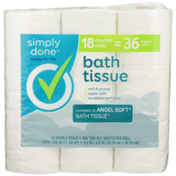 Simply Done Bath Tissue Double Rolls
