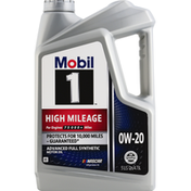 Mobil Motor Oil, Advanced Full Synthetic, 0W-20, High Mileage