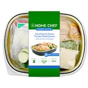 Home Chef Smothered Swiss Turkey Meatloaves With Zucchini And Peas