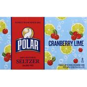 Polar Seltzer, 100% Natural, Cranberry Lime