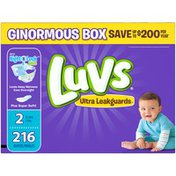 Luvs Ultra Leakguards Diapers Size 2 216 count  Diapers