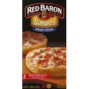 Red Baron Pizzas, Deep Dish, Meat-Trio