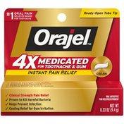 Orajel Medicated Toothache & Gum Instant Pain Relief Cream