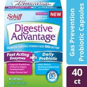 Digestive Advantage Fast Acting Enzymes Plus Daily Probiotic Capsules - Supports Digestive & Immune Health*