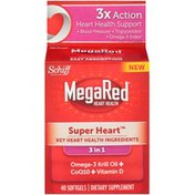 MegaRed Super Heart 3 in 1 Softgels Dietary Supplement
