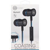 B Iconic Stereo Earbuds, Bluetooth, Wireless, Coasting