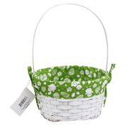 Publix Bamboo Basket, with Printed Liner, Medium