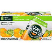 Hansen's Diet Tangerine Lime Premium Soda, Sugar Free