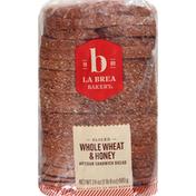 La Brea Bakery Artisan Sandwich Bread, Whole Wheat & Honey, Sliced