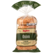 Hy-Vee Onion Larger Bakery Style Bagels