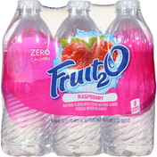 Fruit 2 O Purified Water Beverage, Raspberry, 6 Pack