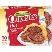 Owens Hot Pork Sausage Patties
