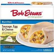 Bob Evans Burritos Sausage, Egg & Cheese - 6 CT