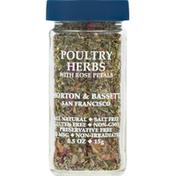 Morton & Bassett Spices Poultry Herbs, with Rose Petals