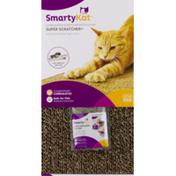 SmartyKat Super Scratcher+ Corrugated Scratcher With Catnip