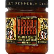Desert Pepper Salsa, Roasted Tomato Chipotle Corn, Medium Hot