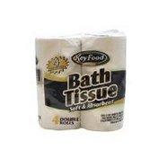 Key Food Double Roll Bath Tissue