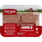 Shady Brook Farms Turkey Patties, Lightly Seasoned