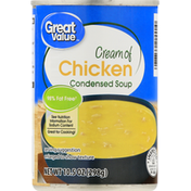 Great Value Condensed Soup, Cream of Chicken