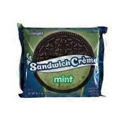 Meijer Mint Flavored Chocolate Sandwich Cookies