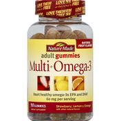 Nature Made Multi + Omega-3, Strawberry, Lemon & Orange, Adult Gummies