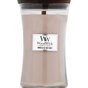 WoodWick Candle, Vanilla & Sea Salt