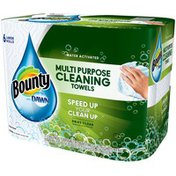 Bounty With Dawn Bounty with Dawn Water-Activated Multi-Purpose Cleaning Towels, White, 6 Large Rolls Towels/Napkins