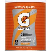 Gatorade Thirst Quencher, Instant Powder Mix, 02 Perform, Orange