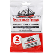 Fisherman's Friend Cough Suppressant/Oral Anesthetic, Extra Strong, Lozenges, Original, 2 Pack