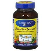Earthrise Spirulina Natural, 500 mg, Tablets