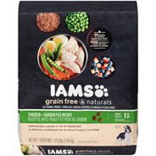 IAMS Grain Free Naturals Chicken + Garden Pea Recipe Adult 1+ Years Dog Food
