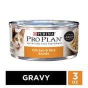 Purina Pro Plan Gravy Wet Cat Food, Chicken & Rice Entree