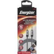 Energizer Audio Cable, Auxiliary, Nylon Braided