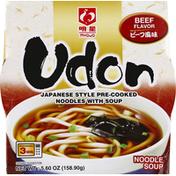 Myojo Noodle Soup, Udon, Beef Flavor, Japanese Style