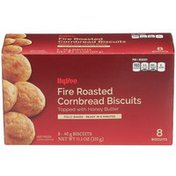 Hy-Vee Fire Roasted Cornbread Biscuits Topped With Honey Butter