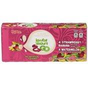 Hy-Vee Go Strawberry Banana Watermelon Low Fat Yogurt