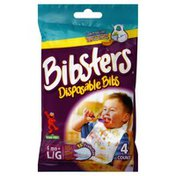 Bibsters Disposable Bibs, 123 Sesame Street, Large