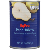 Hy-Vee Pear Halves In Heavy Syrup