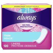 Always Thin No Feel Protection Regular Absorbency Unscented